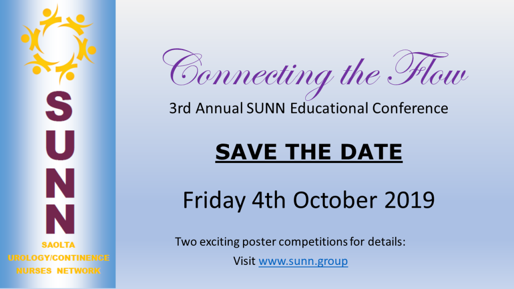 3rd Annual SUNN Educational Conference SAVE THE DATE : Friday 4th October 2019